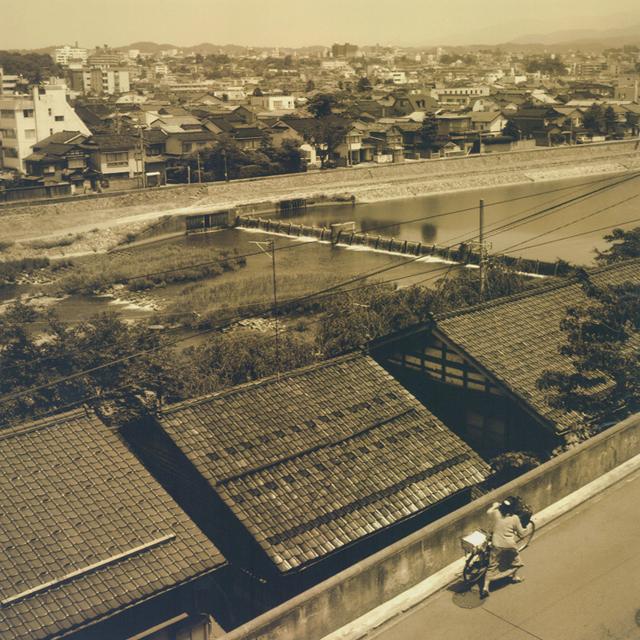桜坂から見た旧早道町のあたり