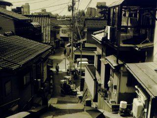 西養寺から望見した東山二丁目