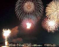 本日21時より、『湯のまつり大花火大会』が片山津温泉で。