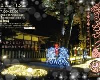 本日より、イルミネーション『縁のあかり』が福井県大野市で。