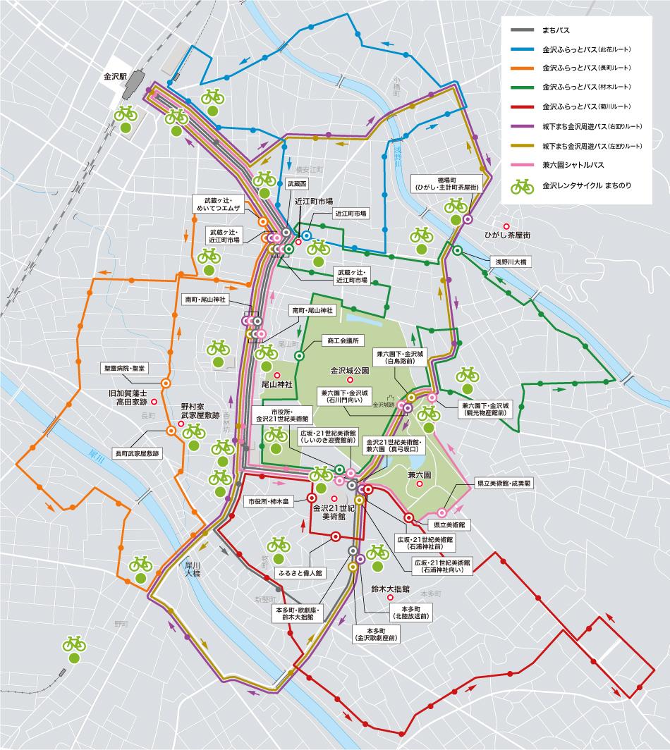 金沢周遊バスマップ