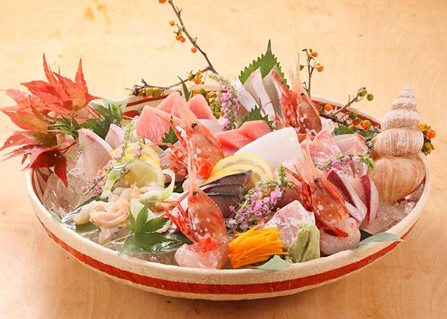 魚菜と北陸の地酒吟の小判