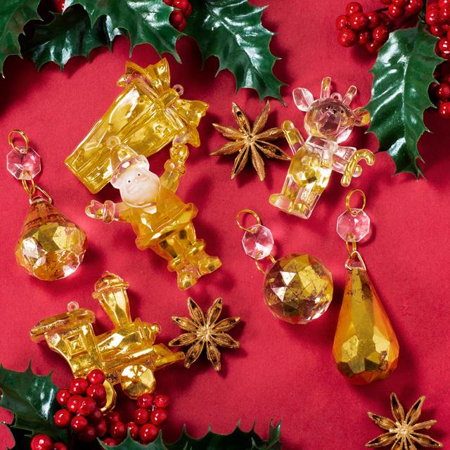 金箔の魅力にふれて楽しむ 箔のお稽古 クリスマスオーナメント