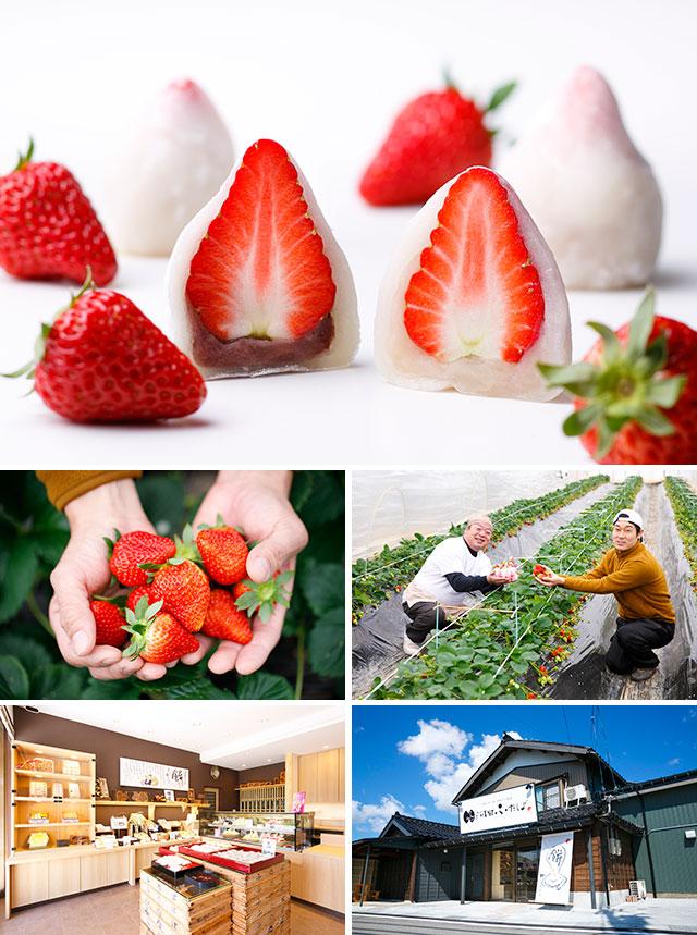 河田ふたば 春を伝える「特製いちご大福」発売開始