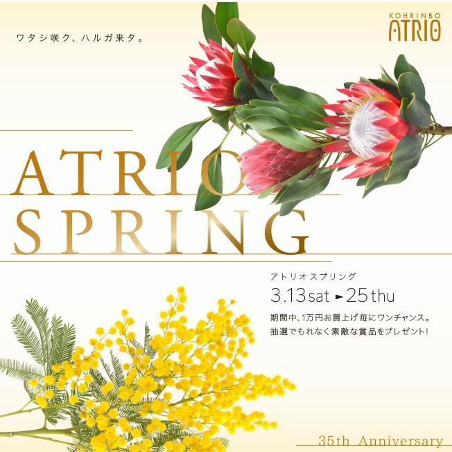 ファッションビル 【3/13~】「ATRIO SPRING」開催