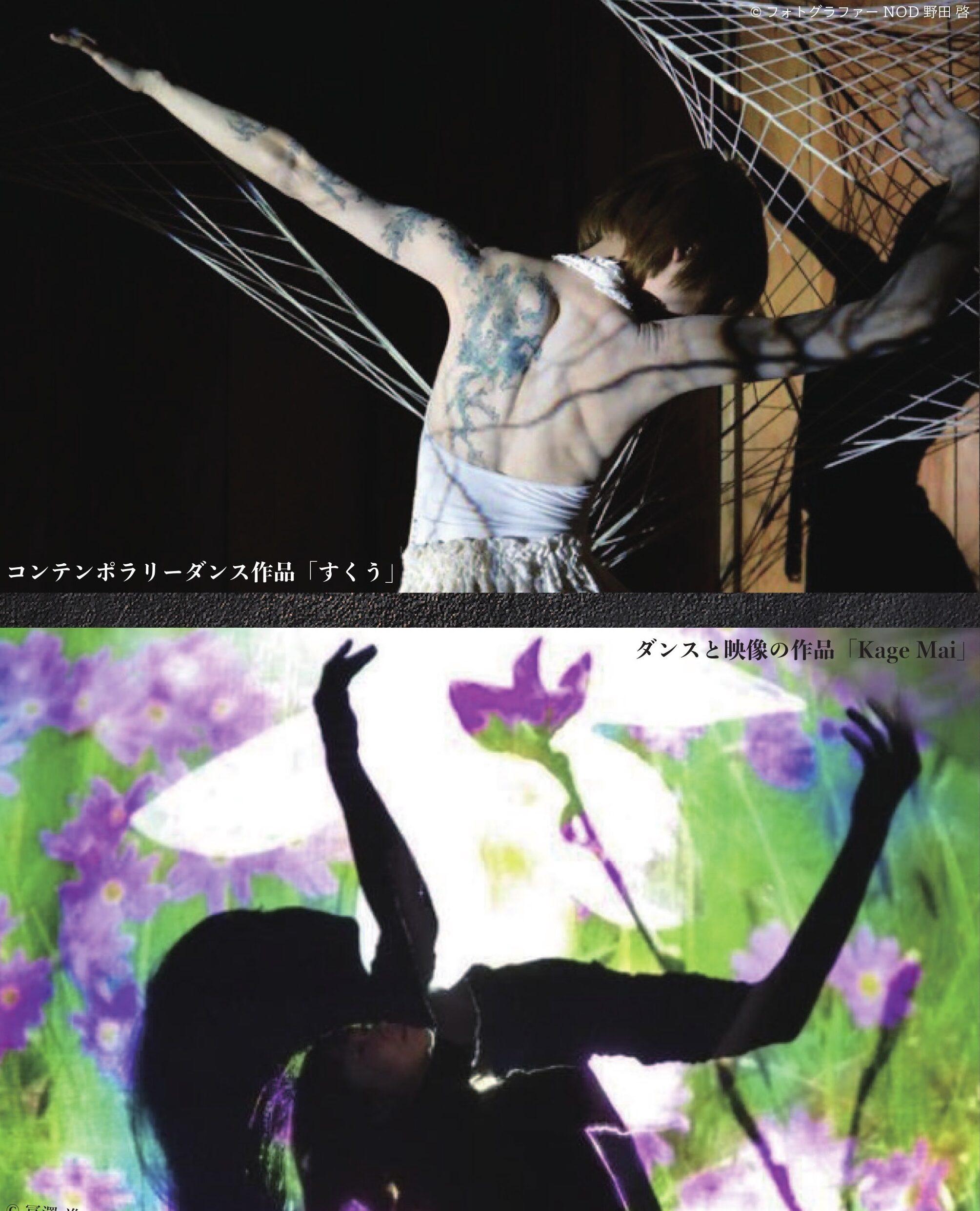 国内外で評価を受けるダンサー・宝栄美希の、踊りと映像がコラボした話題のパフォーマンスアート。